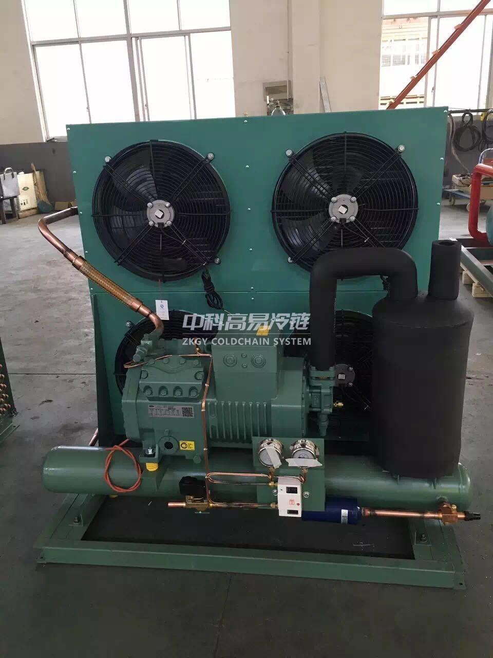 半封闭风冷式机组--常州冷库设计|冷藏冷库工程|常州保鲜冷库建设|冷库建造_中科高易冷链系统(江苏)有限公司